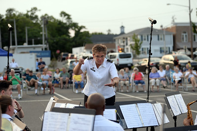The 63rd Army Band performed an open air concert under the direction of Chief Warrant 3rd Class Officer Garrison in Squan Plaza, in Manasquan, NJ on 06/28/2019. (STEVE WEXLER/THE COAST STAR).