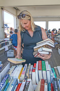 Susan Hrabchak, from Avon. The book fair in Avon-by-the-Sea, NJ on 6/28/19. [DANIELLA HEMINGHAUS | THE COAST STAR]