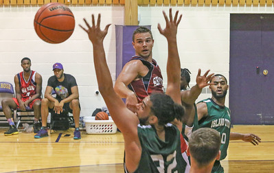 Jersey Shore Basketball League in Belmar, NJ on 7/2/19. [DANIELLA HEMINGHAUS | THE COAST STAR]