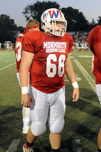 #68, Defensive Lineman Brady Scott of Wall High School at the 2019 All-Shore Gridiron Classic, in Long Branch, NJ on 07/12/2019. (STEVE WEXLER/THE COAST STAR).