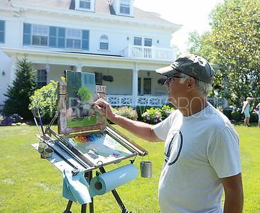 SL Garden Tour// artist Tony Migliaccio of Long Branch painted one of the homes for an upcoming exhibit at Fredricks Gallery