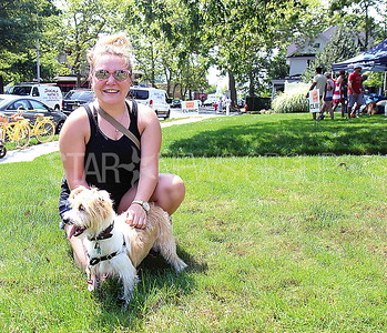 Spring Lake Tails of Hope Pet Festival from L to R: Nicole Ahle of Spring Lake with her dog Luna