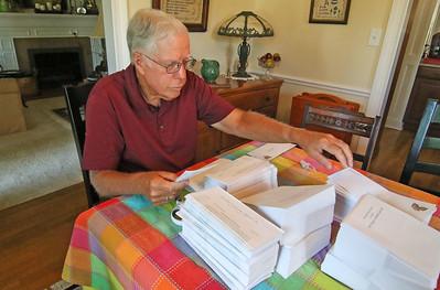 Dennis Foley  The Sea Girt Community Appeal's envelope stuffing in Sea Girt,  NJ on 8/22/19. [DANIELLA HEMINGHAUS]