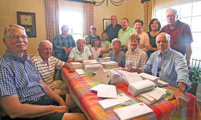 The Sea Girt Community Appeal's envelope stuffing in Sea Girt,  NJ on 8/22/19. [DANIELLA HEMINGHAUS]