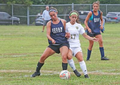 Manasquan v/s Point Pleasant Boro girls soccer in Sea Girt, NJ on 8/23/19. [DANIELLA HEMINGHAUS]