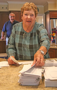 Joyce Cornelius The Sea Girt Community Appeal's envelope stuffing in Sea Girt,  NJ on 8/22/19. [DANIELLA HEMINGHAUS]