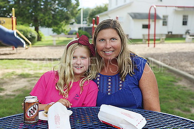 BRL National Night Out_ Kyra Polesky 10 with her mom Kathleen of Brielle