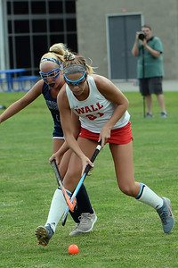 #21, Claire Ferguson of the Wall Crimson Knights gets around a Manasquan High School player in the game played at Wall High School, Wall Township, NJ on 09/05/2019. (STEVE WEXLER/THE COAST STAR).