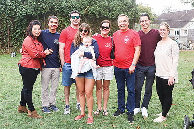 Brielle Chili Cookoff// Councilman Frank Garruzzo took 3rd place, here with his family// L to R: Antonella Caramante, Anthony Garruzzo, Ian Mueller, Cassie Garruzzo, Paige Slawsky 5months, Darcy Garruzzo, Frank Garruzzo, Frankie Garruzzo and Brueck Slawsky