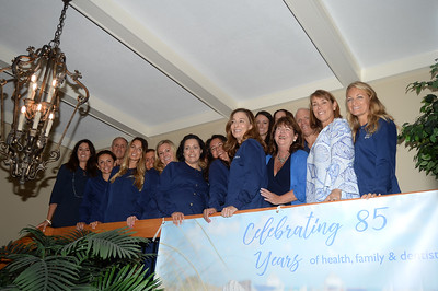 WALL ALL IN THE FAMILY DENTAL CARE 85TH ANNIVERSARY STAFF PHOTO. 09/10/2018. (STEVE WEXLER/THE COAST STAR).