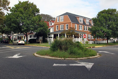 There are two traffic circles along 10th Ave. in Belmar and they are photographed on Thursday September 20, 2018 (MARK R. SULLIVAN /THE COAST STAR)
