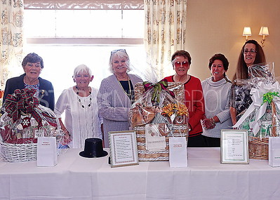 SG Holly Club luncheon/ members: Rosie Conway. Arlene Burns. Donna Hostetter. Jane Bufo. Barbara Sands and Jackie Joule