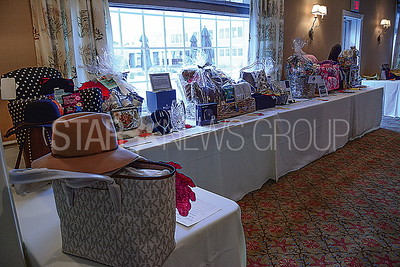 some of the silent auction prizes
