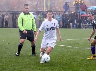 no.10, Eathan Dzenis Manasquan High School boys soccer v/s Bordentown Regional in Bordentown,NJ on 11/5/18. [DANIELLA HEMINGHAUS | THE COAST STAR]