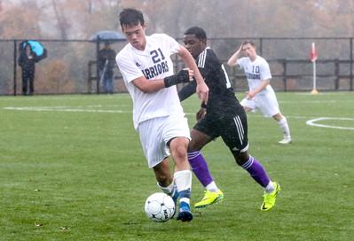 no.21, Rich Maloney Manasquan High School boys soccer v/s Bordentown Regional in Bordentown,NJ on 11/5/18. [DANIELLA HEMINGHAUS | THE COAST STAR]