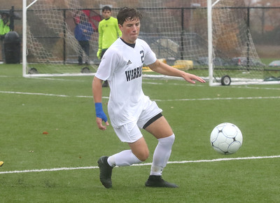 no.2, Sam Del Guercio Manasquan High School boys soccer v/s Bordentown Regional in Bordentown,NJ on 11/5/18. [DANIELLA HEMINGHAUS | THE COAST STAR]