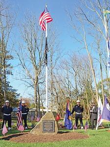 the plaque dedication all veterans