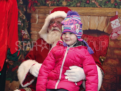 BB Tree Lighting//  Santa ( BB Fireman Joseph Applegate) with Olivia Sabatino 3 of Wall