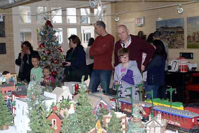THE ANNUAL CHRISTMAS VILLAGE AND MODEL TRAIN DISPLAY HELD AT DUGGAN HALL IN SPRING LAKE, NEW JERSEY HOSTED A STEADY STREAM OF VISTORS ALL DAY ON 11/24/2018. (STEVE WEXLER/THE COAST STAR).