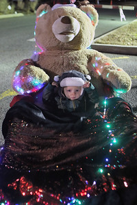 Zachary Calpini of Sea Girt is bundled up as the Borough of Sea Girt held their annual traditional tree lighting at the Plaza  with music by the Sea Girt Elementary School along with dancers from East Coast Dance Company and ice sculpturer Kevin O'Malley and a vise by Santa and Mrs. Clause on Monday December 3,2018. (MARK R. SULLIVAN/THE COAST STAR)