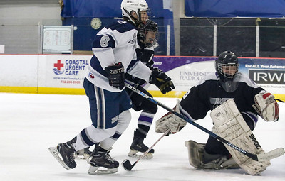 no.6, on goal. Manasquan v/s Rumson-Fair Haven hockey in Wall, NJ on 12/5/18. [DANIELLA HEMINGHAUS | THE COAST STAR]