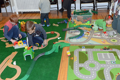 There were an assortment of Train layouts available to the kids that attended Dinner with Santa at InfoAge Science History Learning Center and Museum in Wall, New Jersey on 12/13/2018. (STEVE WEXLER/THE COAST STAR).