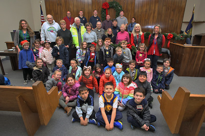 Spring Lake Heights Police department honored their Crossing Guard Division with a breakfast and a special visit by the kindergarten class from Spring Lake Elementary School on Wednesday December 19,2018. (MARK R. SULLIVAN /THE COAST STAR)