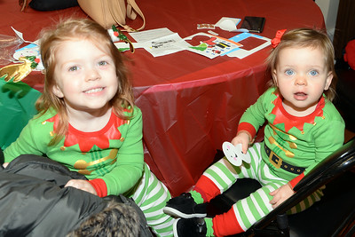 Lily and Isla Vassallo of Wall, New Jersey attended Dinner with Santa at Info Age Science History Learning Center and Museum, Wall, New Jersey on 12/13/2018. (STEVE WEXLER/THE COAST STAR).
