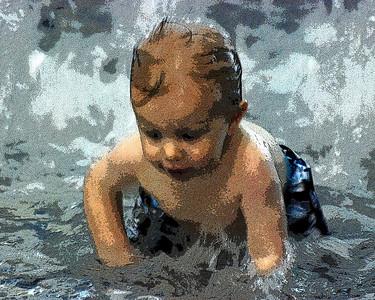 Justin at the Pool