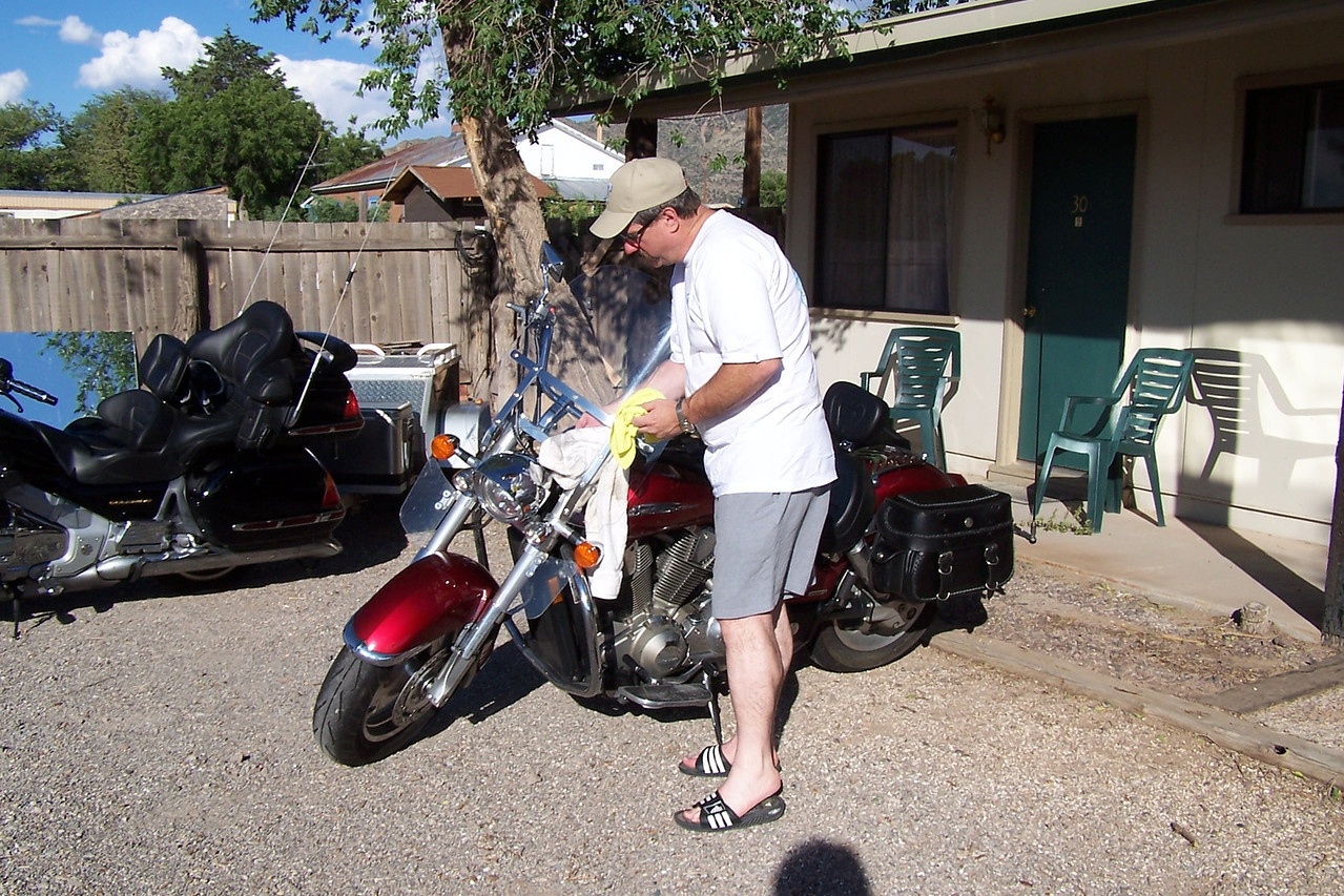 Bike clean up in Magdalena, NM.