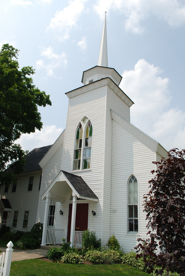 First Presbyterian Church in Warren County, NY.  The stained glass was very beautiful and the church was in pristine condition.