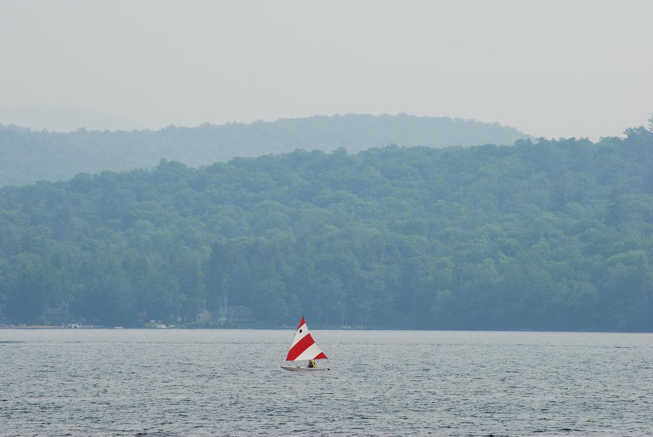Red and White Sailboat I<br /> Indian Lake,NY