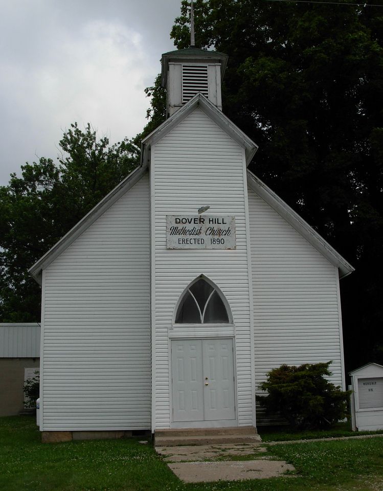 It is hard to resist stopping for pictures of all the beautiful churches along the way.  This one was particularly capitivating in Dover Hill, IN.