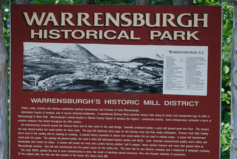 Information on Warrensburgh Historical Park, a stop on my car ride through the Adirondacks while Dale was sweating it out at his conference in Albany,NY.
