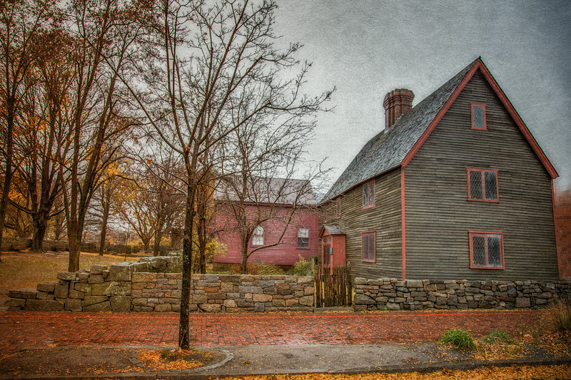 Colonial Era Architecture. Samuel Pickman House, c. 1681, Salem, Essex County, Massachusetts