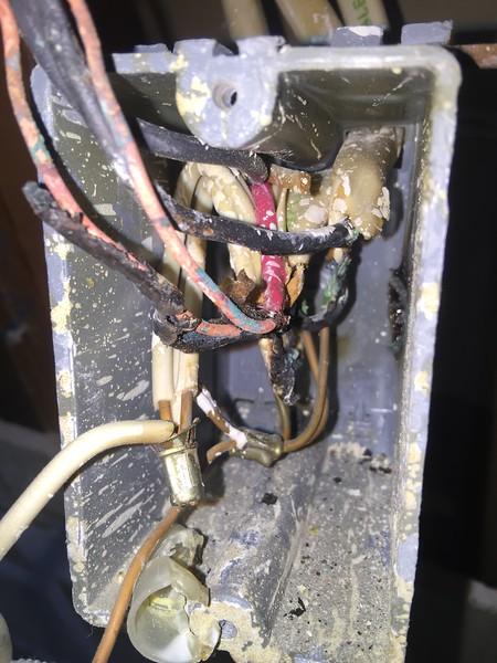 Scorched wiring found