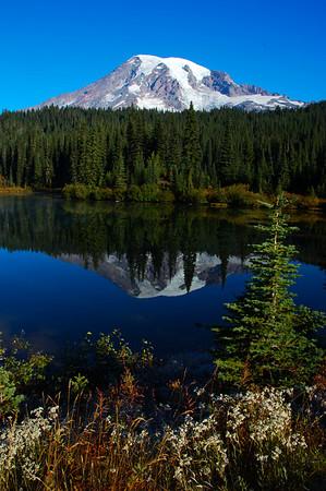 Mt. Rainier from Reflection Lake.