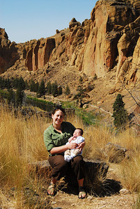 Smith Rock Oregon. Kaden is a couple of months old.