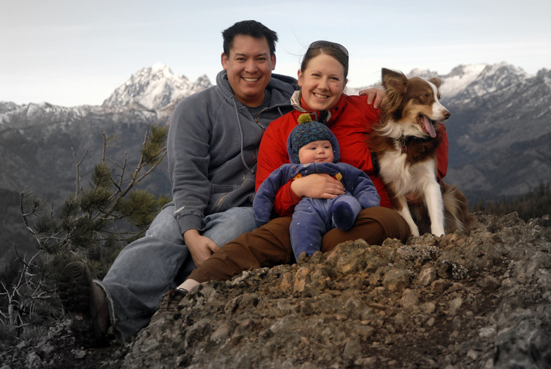 Summit of Red Top Mountain. It is November so he around 4 months old. No snow in these mountains yet.