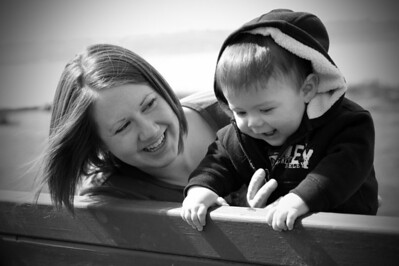 Another favorite photo. They look so happy. Kaden around seven months.