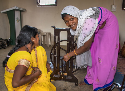As part of their training, ladies also learn assembly and repair skills so they can be completely self-sufficient in earning a living.