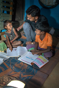 In addition to fixed solar lamps for homes, TCF provides portable solar lanterns to families. Apart from the far-reaching benefit of allowing children to study schoolwork at night, lamps also help protect family members from wildlife when they go out to tend cattle in the dark.