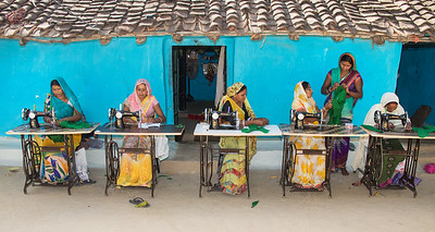 TCF partners with USHA Int'l Ltd. to train women in sewing and tailoring. Once proficient, a woman can double or even triple a family's income with her own business. Sewing machines are on the installment plan with payments made from the ladies' earnings.