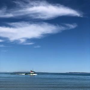 The Joy returns to Leland Harbor