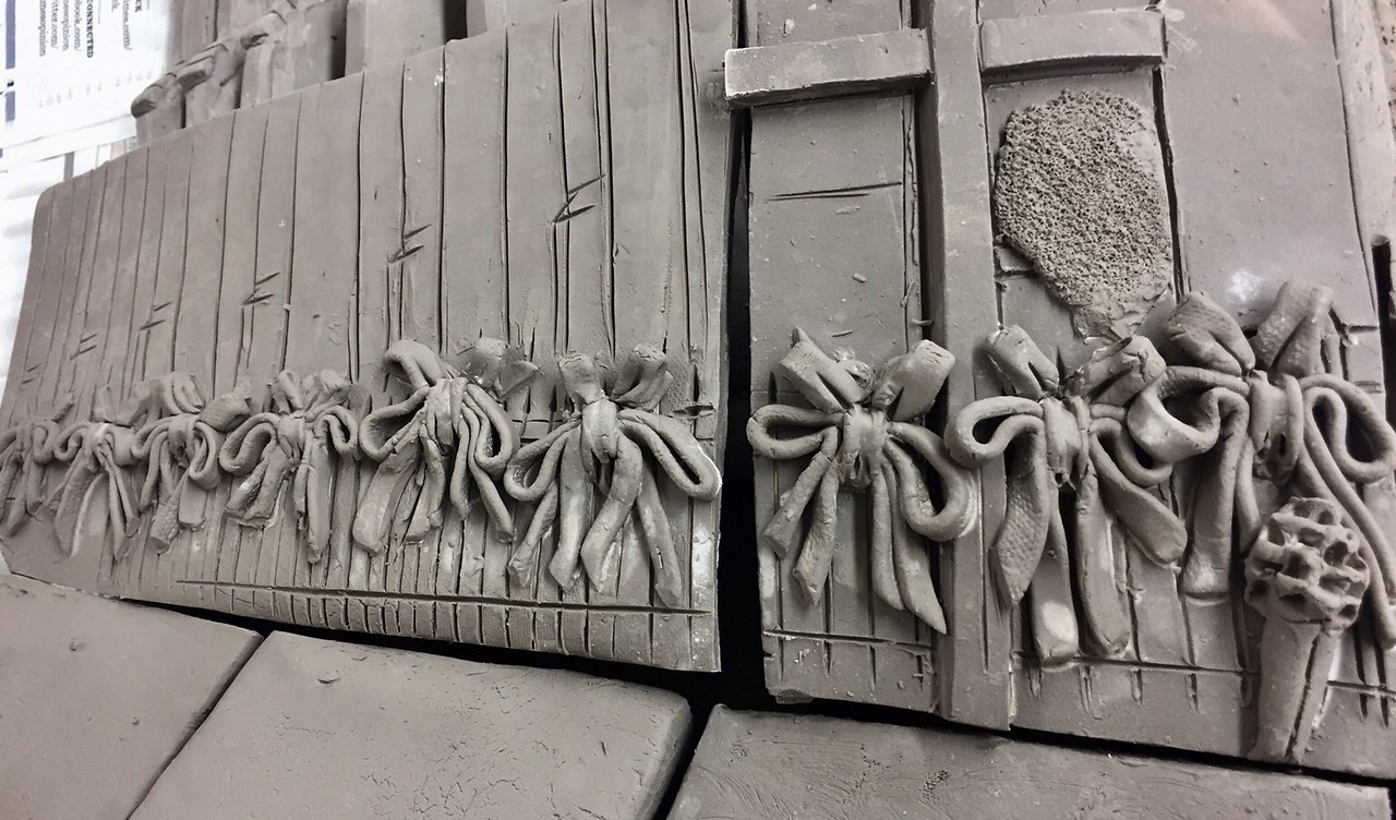 Clay ribbon renderings in tribute to the Emanuel 9
