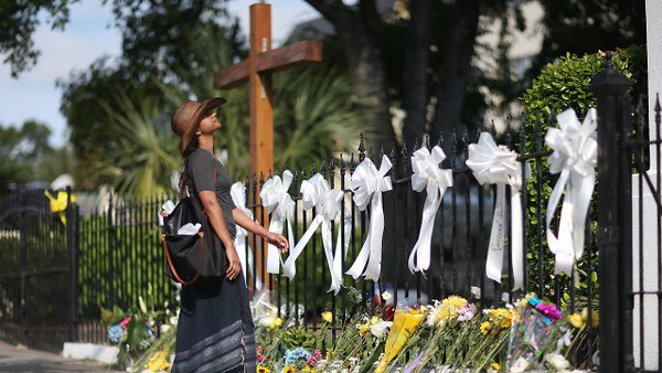 Memorial tributes to the Emanuel 9, Emanuel AME Church, Charleston