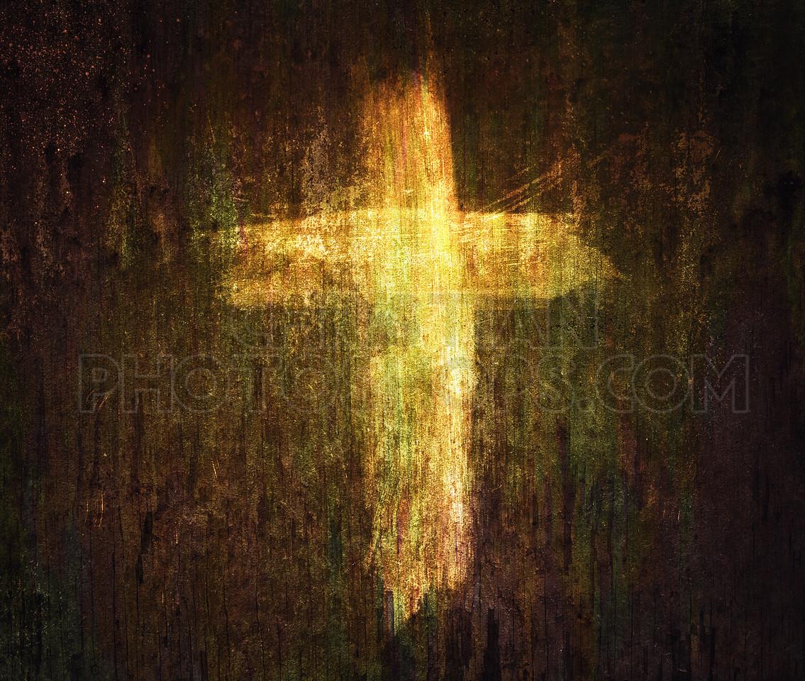 Cross on grunge background