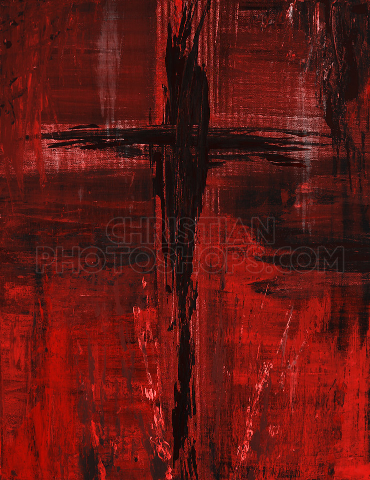 Painted red cross