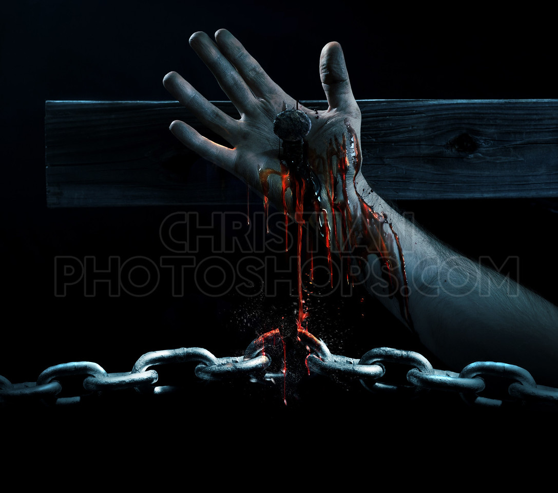 Blood breaking the chains