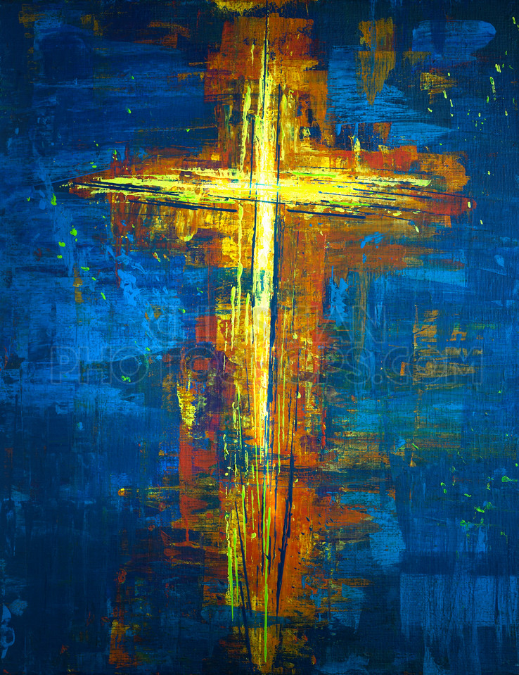 Yellow Abstract Cross